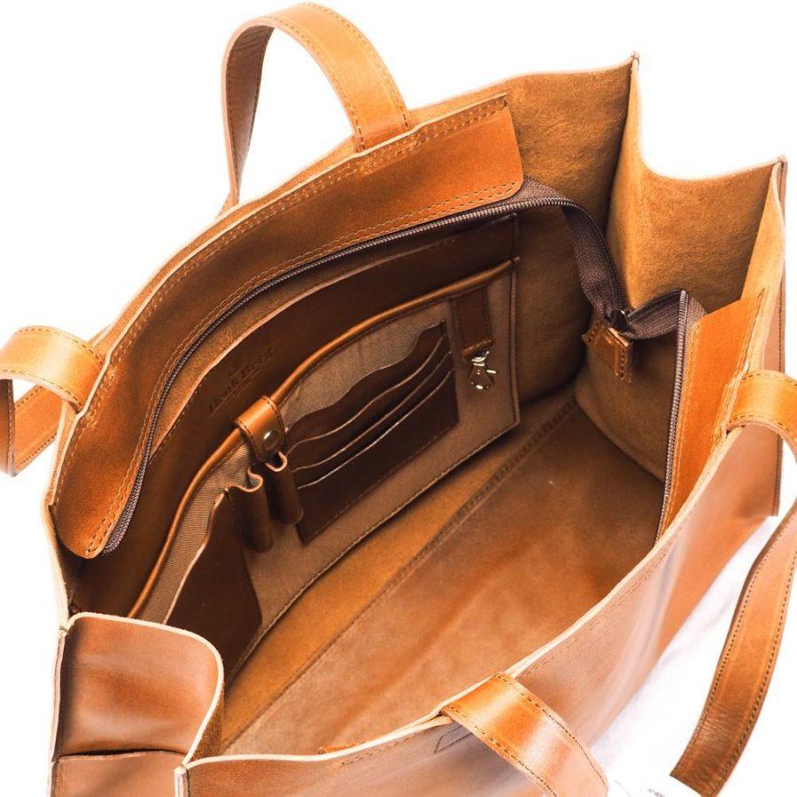 Henk Berg Salamanca tote bag in Vintage Tan