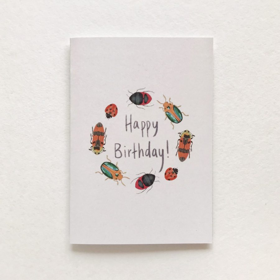 Happy Birthday Beatle Card