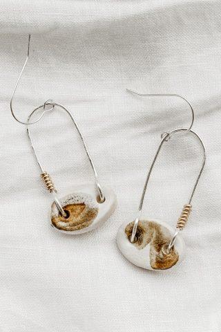 Ochre ceramics seedling earrings