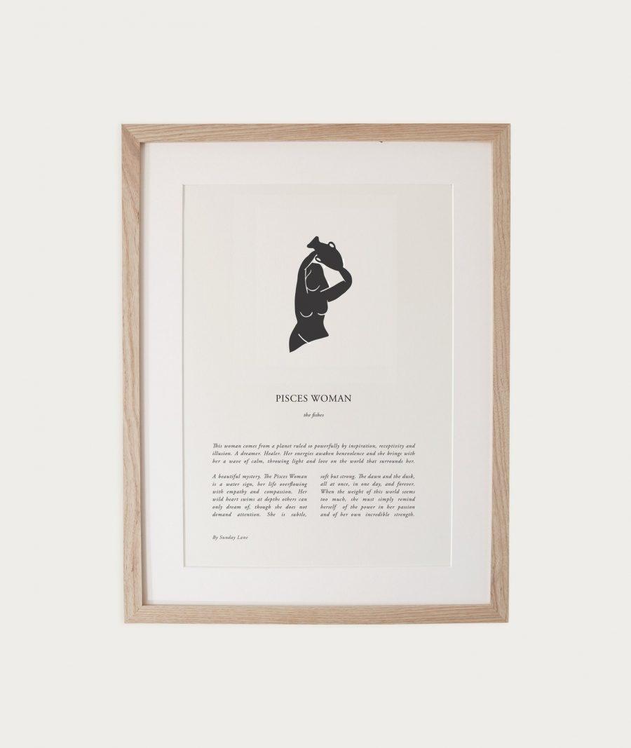 Woman Zodiac Print