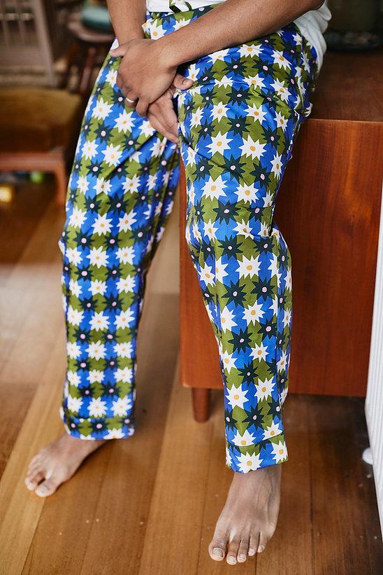 Togetherness Unisex cotton floral pajama pants