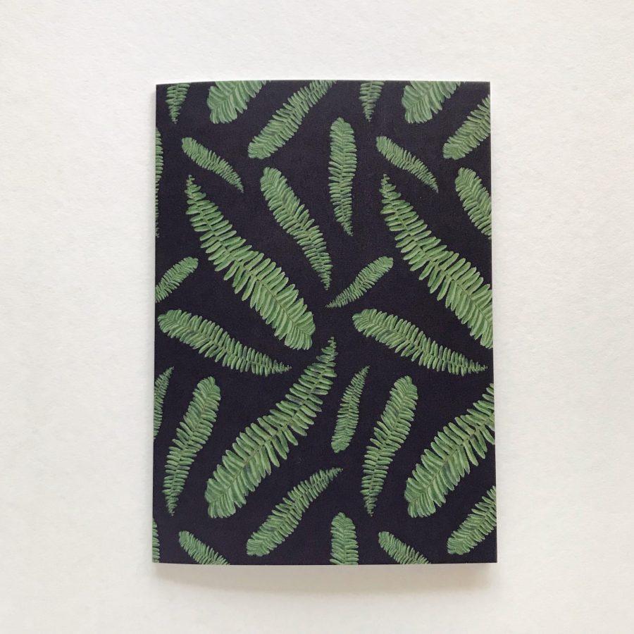 Fern card on dark Hollie Kelley Illustration