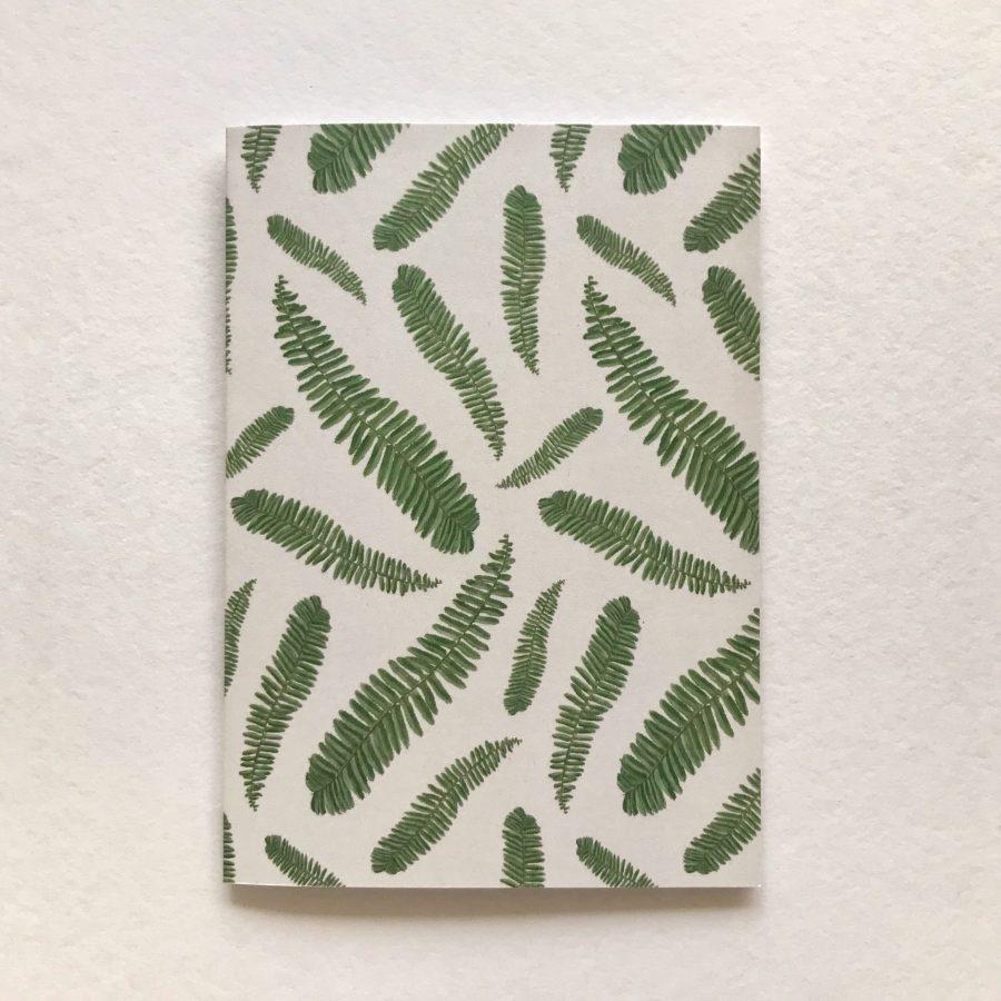 Fern card on light Hollie Kelley Illustration