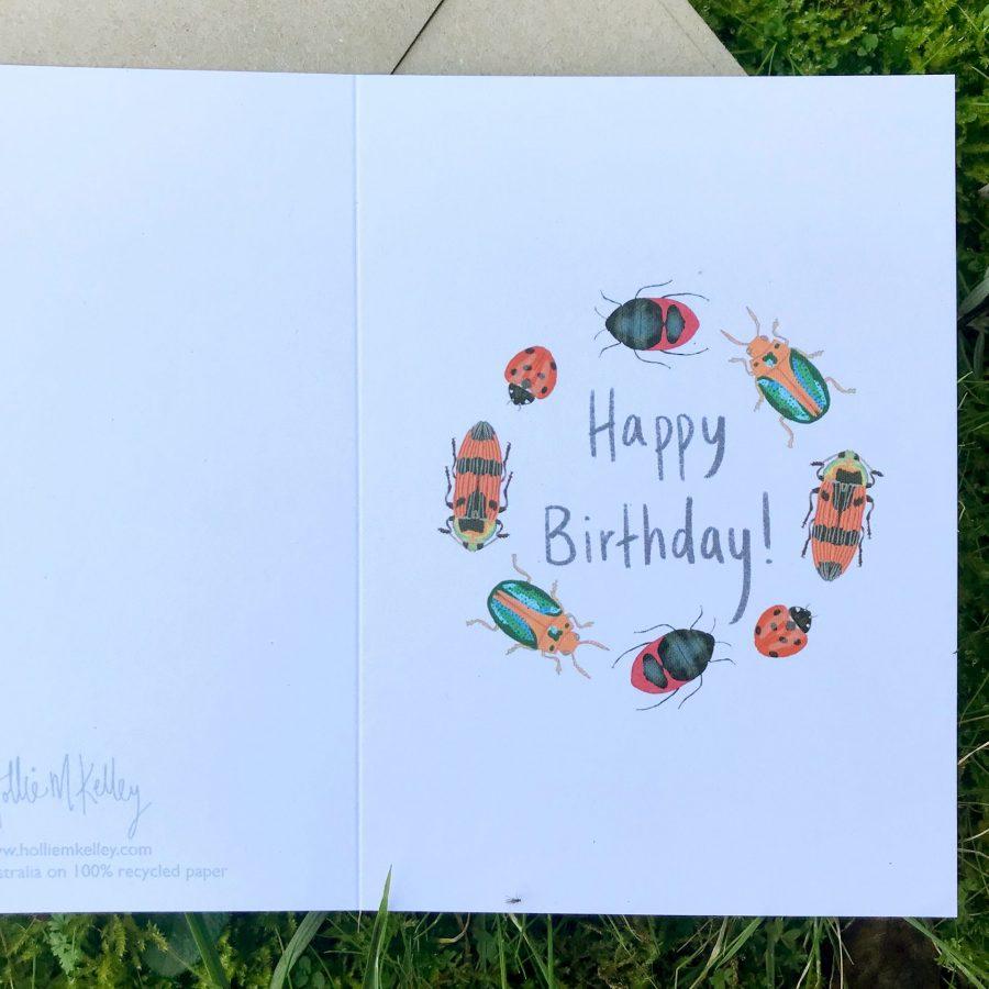 happy birthday beatle greeting card