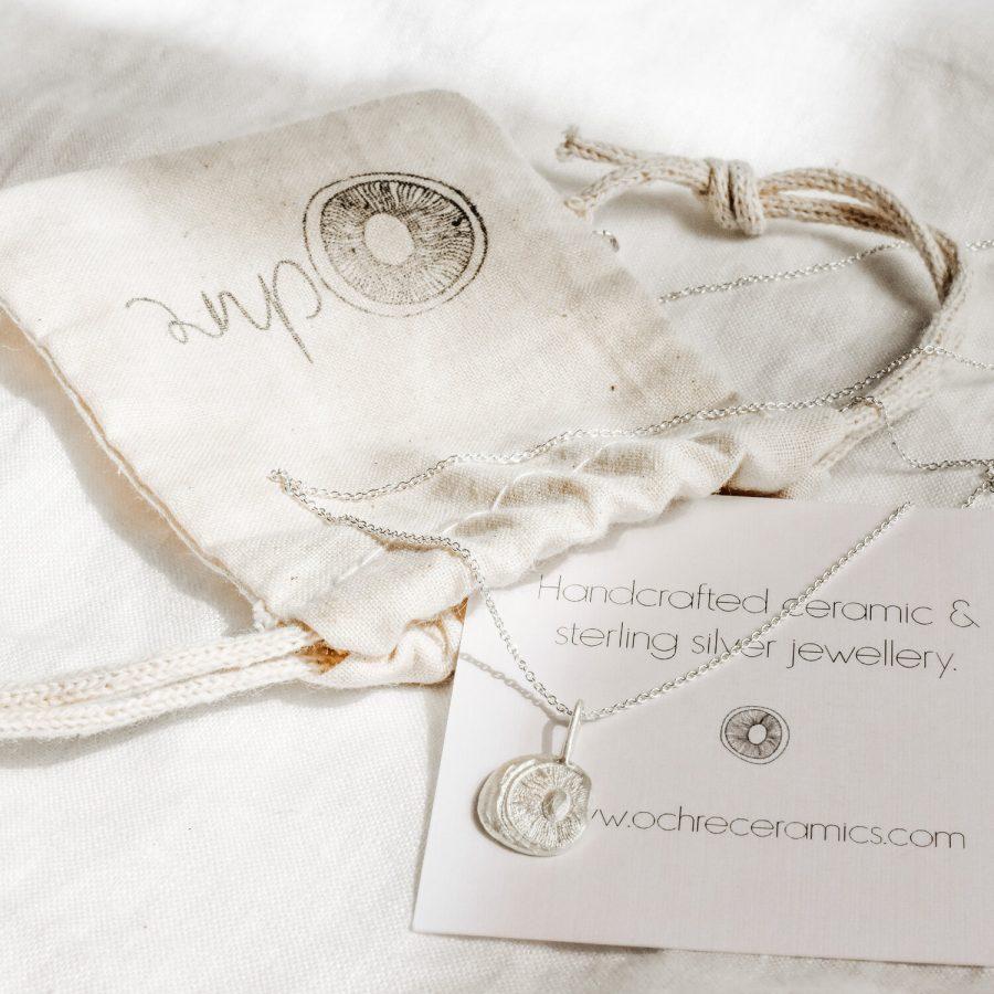 Ochre ceramics signature necklace