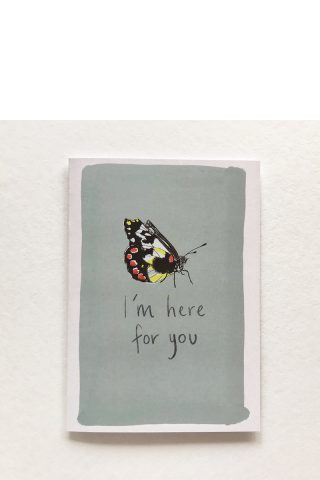 Here for you butterfly card Hollie Kelley