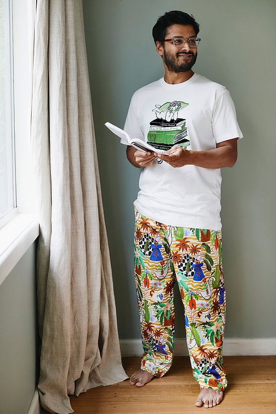 Togetherness Unisex cotton tropical pajama pants