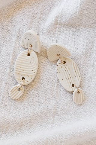 Ochre ceramics jewellery Parthenon studs