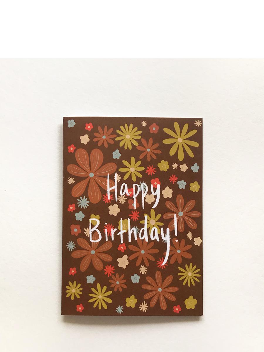 Happy Birthday Retro greeting card Hollie Kelley