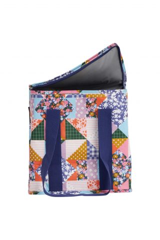 Oversized patchwork recycled plastic insulated tote bag by Project Ten