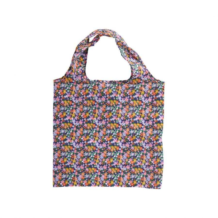 Recycled plastic mini foldable shopper Ditsy florals
