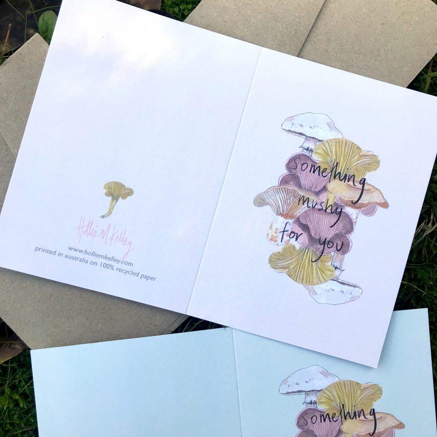 Something Mushy For You Edible Mushroom Card Hollie Kelley