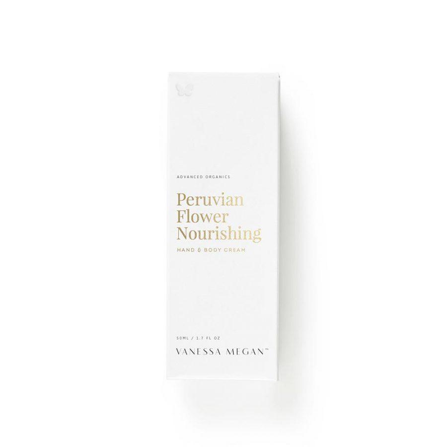 Peruvian flower hand and body cream Vanessa Megan Box
