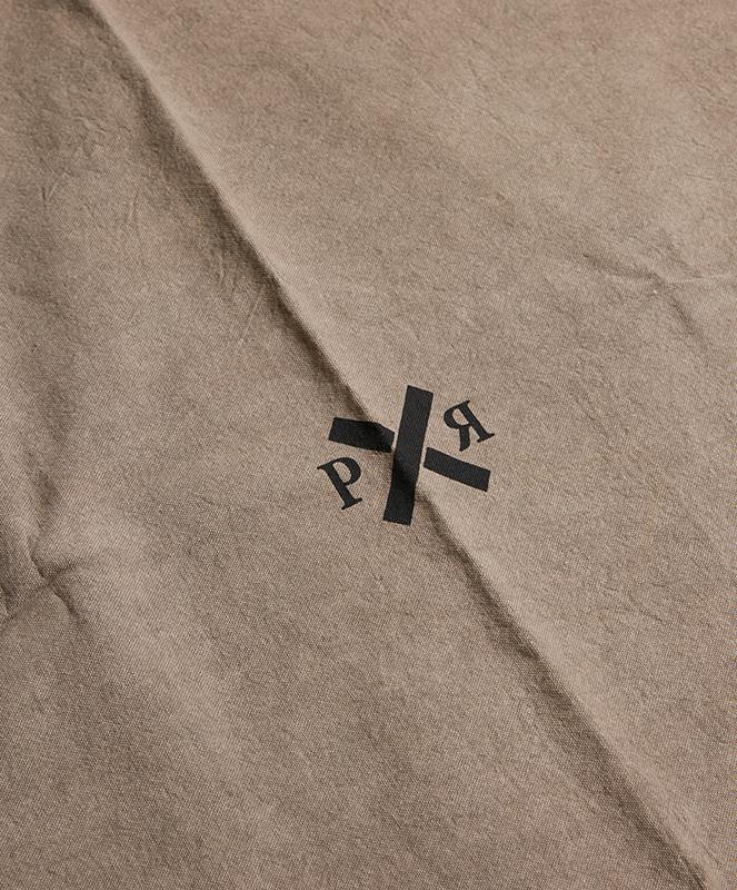 Ponyrider highlander canvas throw Mud logo