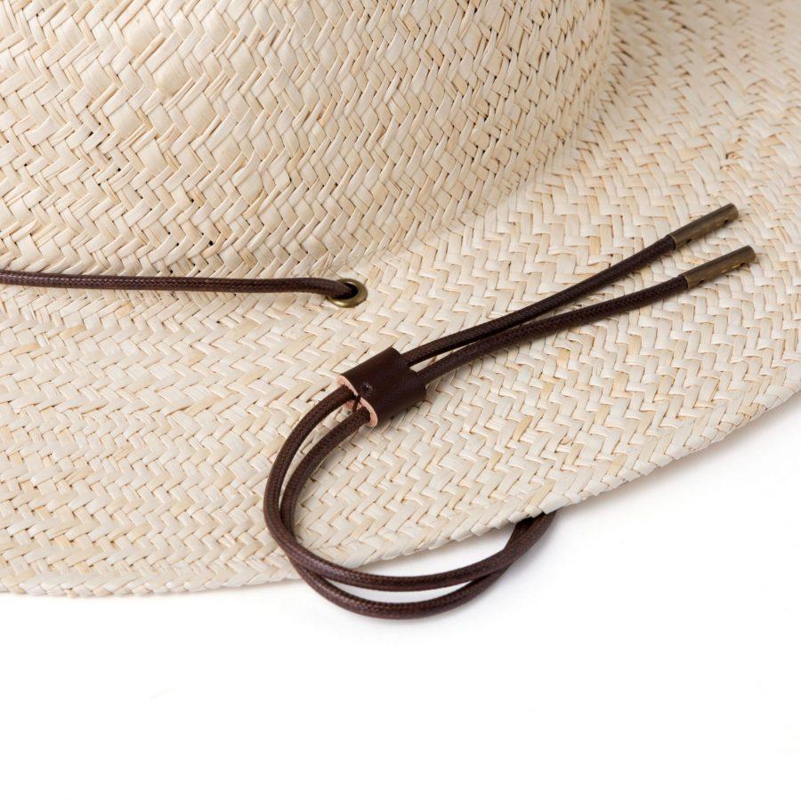 Rider straw hat in bone
