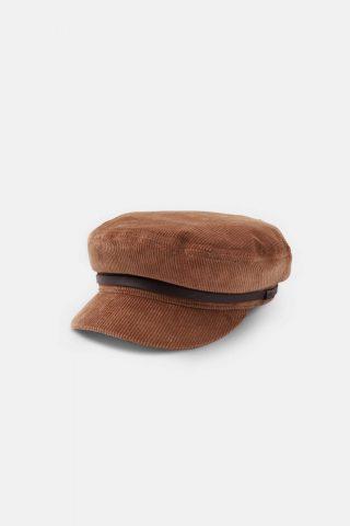 Baler cap in tan will and bear